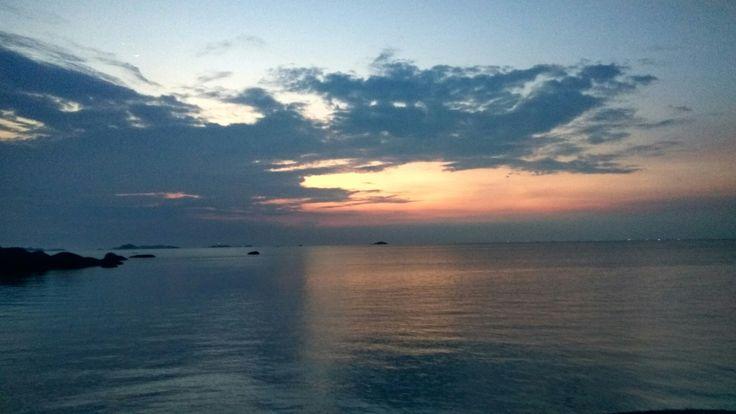 Sunset at Tanjung Tinggi beach