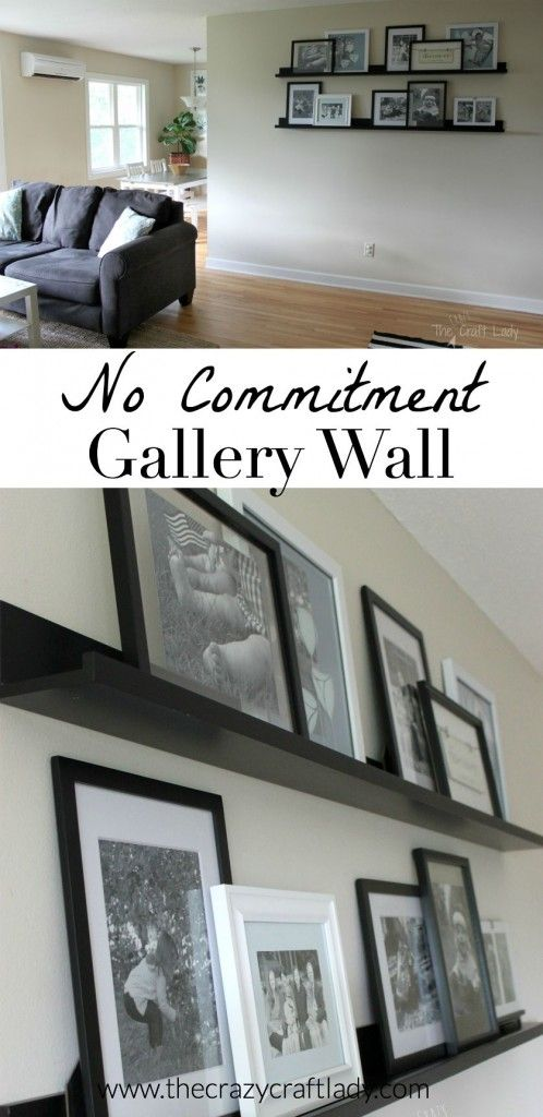 Creating A No Commitment Gallery Wall Picture Ledge