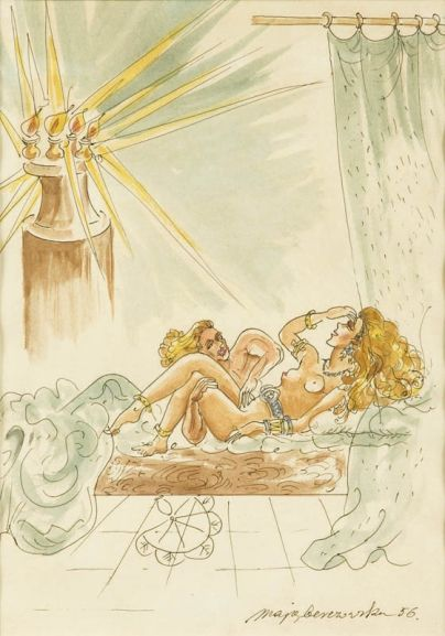 Maja Berezowska - Scena erotyczna, 1956 r.