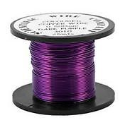 Copper Coloured Wire Dark Purple Copper Wire by Makewithlovecrafts, £3.25