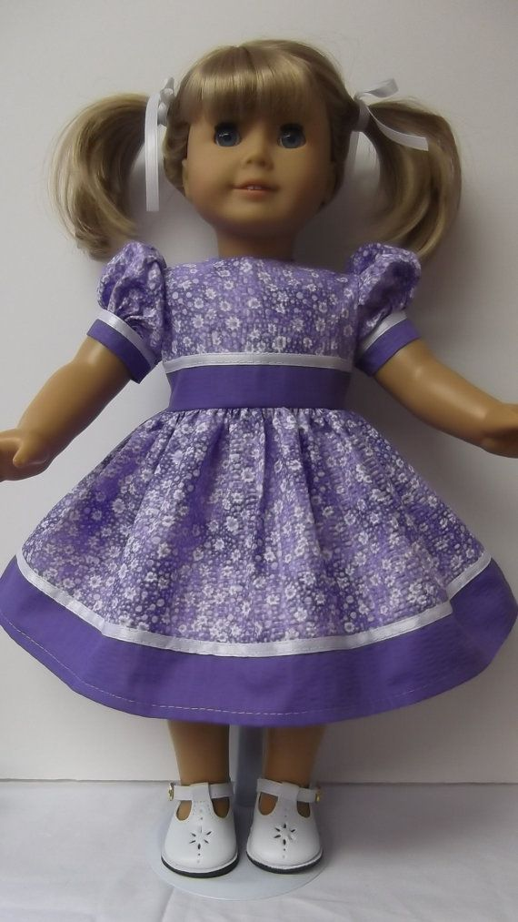 American Girl Doll Clothes  Purple Spring Dress by susiestitchit, $16.00