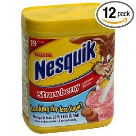 Pink Pillow cookie recipe using Nesquick Strawberry milk mix