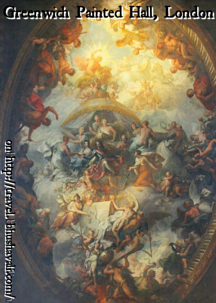 The painted hall of Greenwich... #travelblog #photoblog #travelblogger #ttop #VisitLondon #VisitEngland #LoveGreatBritain #Heritage #History #arthistory #UNESCO #GoUNESCO #UNESCOWorldHeritage