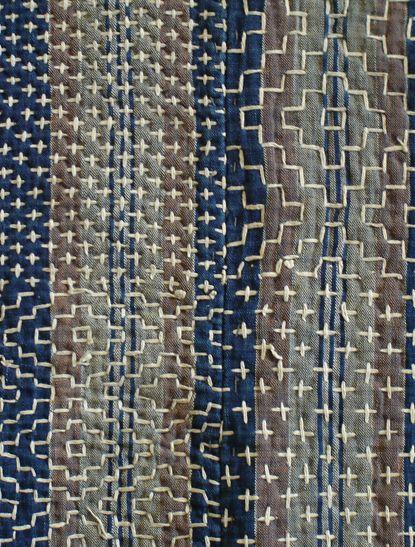 A Gorgeous and Intricately Sashiko Stitched Kotatsugake | Sri Threads