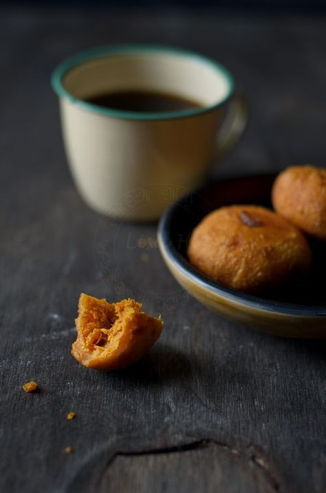 Cucur Badak / Sweet Potato donuts with Spicy Coconut Filling