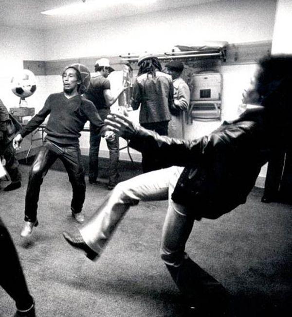bob marley and jimi hendrix, 1972.