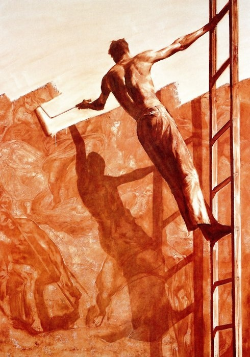 Mark Tansey. Triumph over Mastery II, 1987