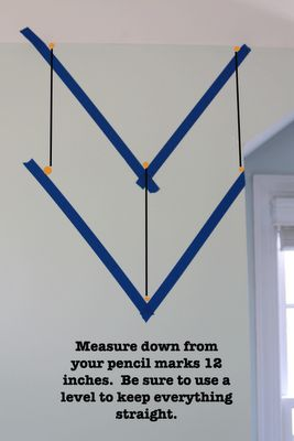 Great directions for laying out a chevron pattern with tape