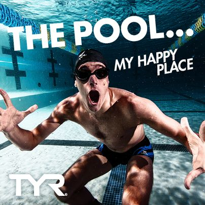 Swimmers are happiest in the pool.