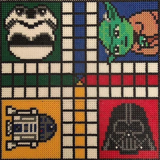 Star Wars ludo board game hama beads by parltavlor_pyssel