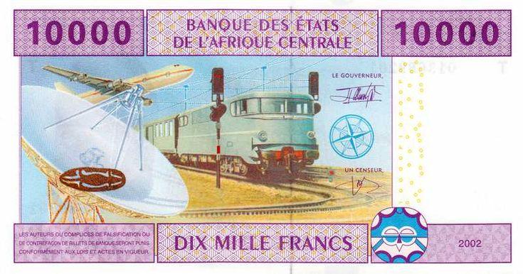 Billet de banque - Congo - Pick 110T - 10000 francs