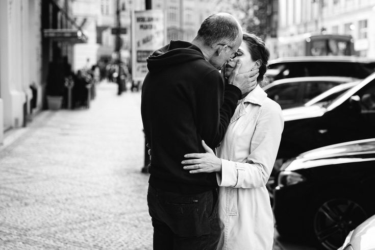The kiss. Prague, Czech Republic, 2016. Original, limited edition, signed, fine art print on Hahnemühle high quality paper. #streetphotography #blackandwhite #street #photography #fineart #print #urban #monochrome #night #graphic #couple #kiss #love #deco
