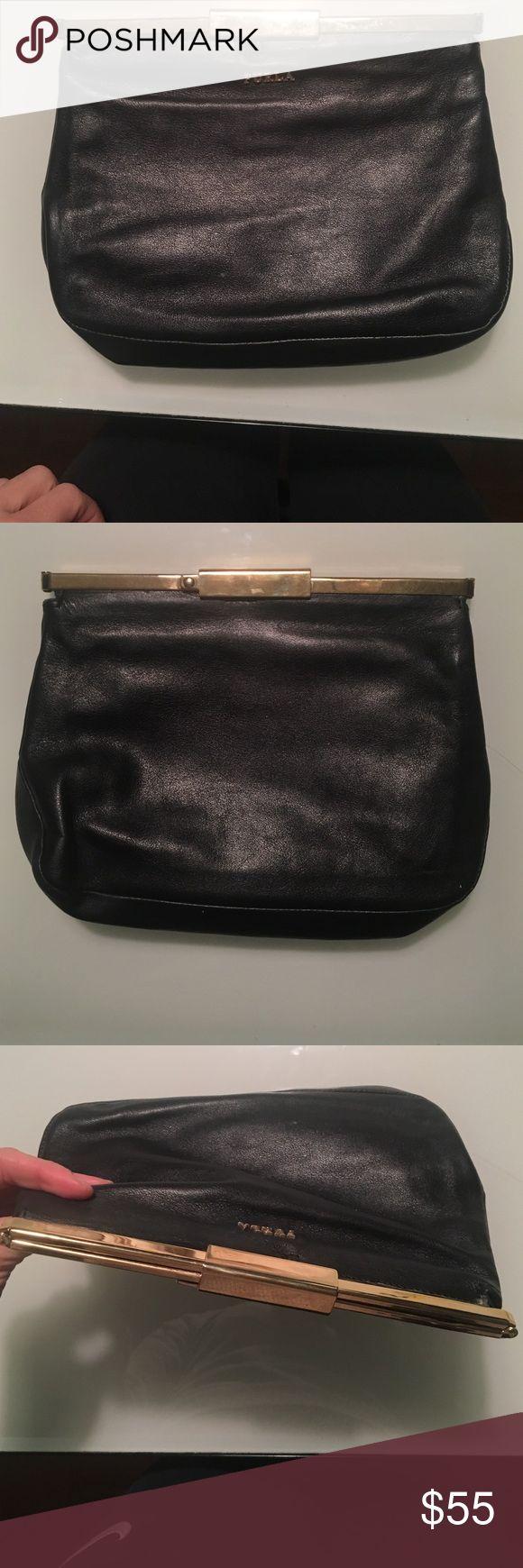 Furla clutch used Furla black leather clutch. Furla Bags Clutches & Wristlets