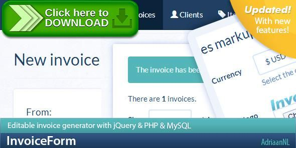 [ThemeForest]Free nulled download InvoiceForm - Invoicing made easy from http://zippyfile.download/f.php?id=46464 Tags: ecommerce, administration, bootstrap, css, download, editable, finance, form, generator, invoice, invoice application, money, pdf, PDF invoices, php, send invoices