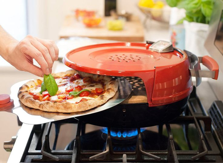 pizzeria pronto stovetop pizza oven cooks gourmet meals in six minutes