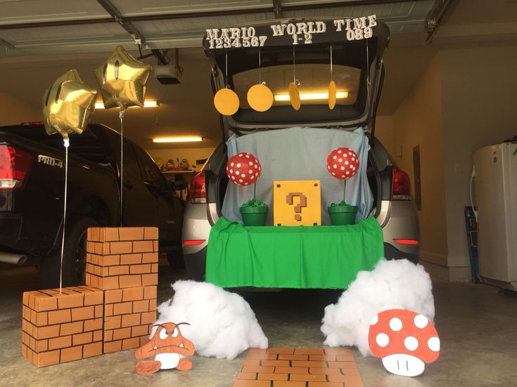decor trunk or treat ideas for decorating piles of bricks and balloons also decoration lights like - Halloween Trunk Or Treat Decorating Ideas