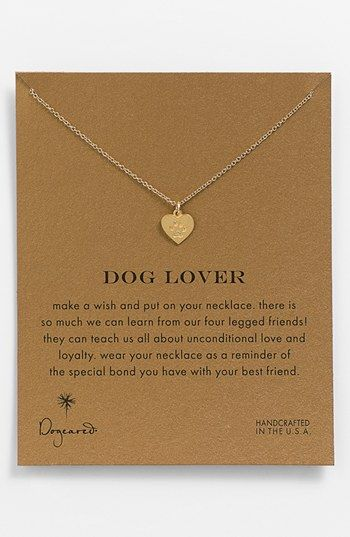 Dogeared 'Reminder - Dog Lover' Boxed Pendant Necklace available at #Nordstrom