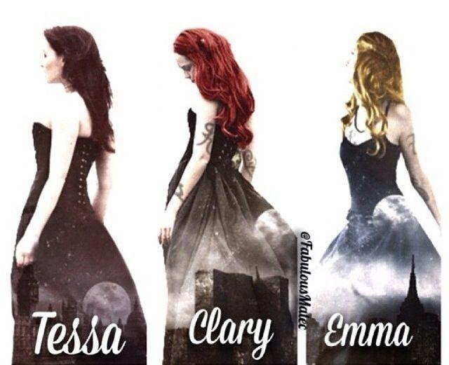 Tessa Gray, Clary Fray, Emma Carstairs~ Shadowhunters Girls