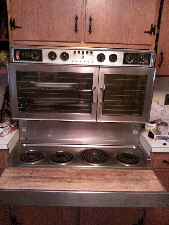 1960 vintage tappan stainless range and wall oven  grammy had this  and it was fantastic