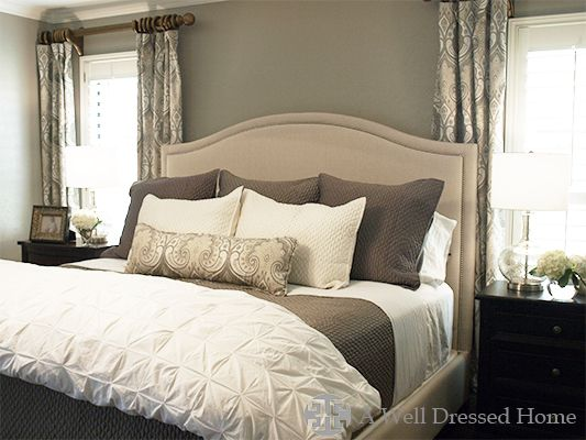 Lovely Master Bedroom Makeover By Emily Hewett Of A Well Dressed Home  Http://awelldressedhome
