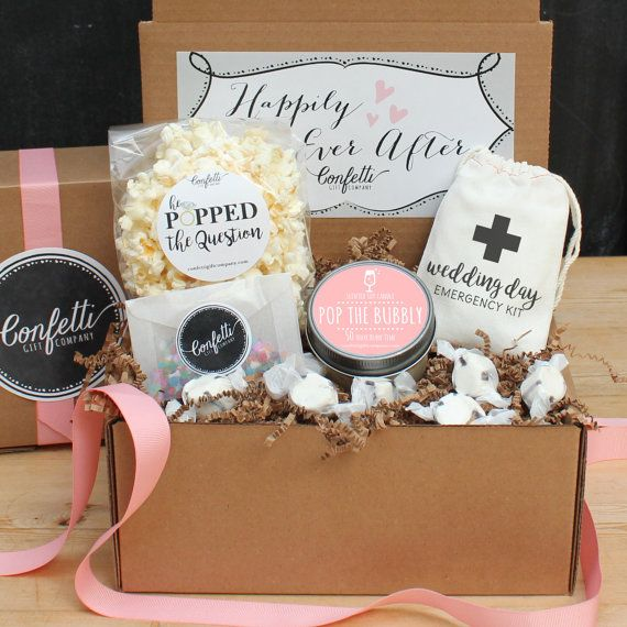 Happily Ever After Gift Box / Engagement  Gift / Bride to Be Gift / Bridal Shower Gift / Congratulations Gift / Pop the Bubbly Gift