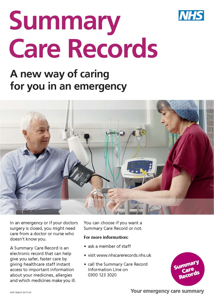 Summary Care Record Awareness Poster http//www