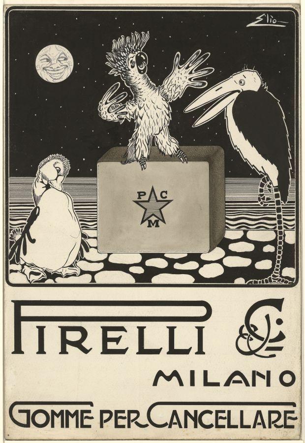 ✔️ Pirelli, Gomme per cancellare 1920