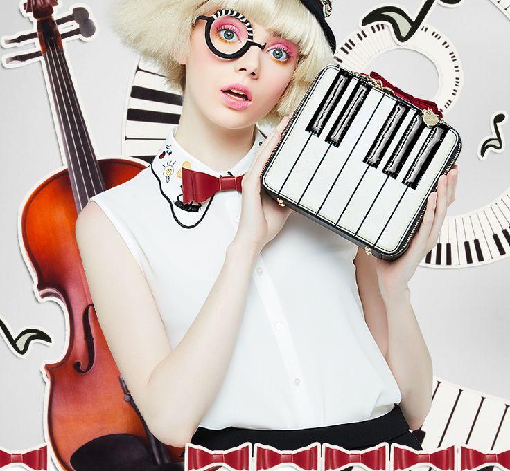 Kawaii Piano Keys Shoulder Bag YV1106