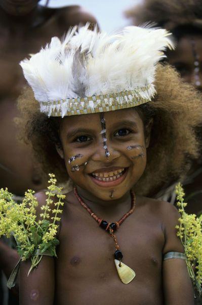 Papua New guinea | Girl In Traditional Clothing. Kwato Island | © Wolfgang Kaehler