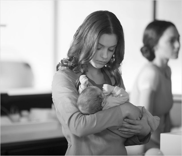The Giver : Photo Odeya Rush *suddenly feels as tho I must make a canon of Kyla holding a baby tho idk who would trust them wit their baby tbh*
