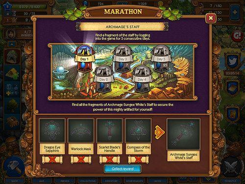 Mobile games Daily Reward: screenshots, UI