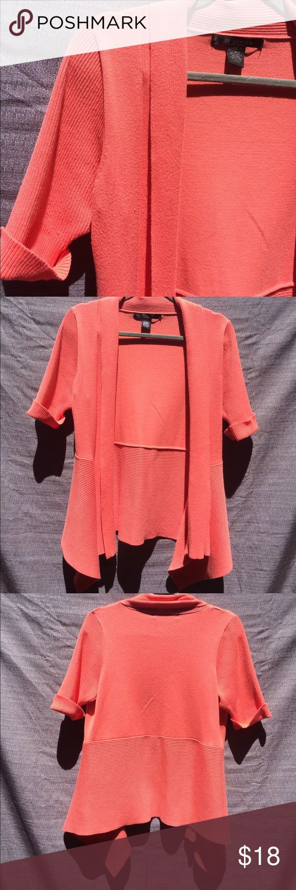 89th & Madison Coral Cardigan 89th & Madison Coral Cardigan Size Large rayon polyester blend 89th & Madison Sweaters Cardigans