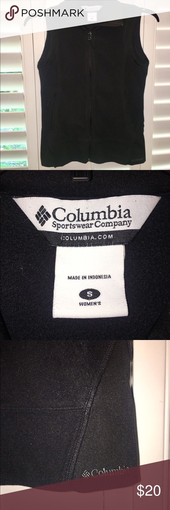 Colombia Vest💕 Perfect for fall has two zip up pockets in the front! Very soft! Columbia Jackets & Coats Vests