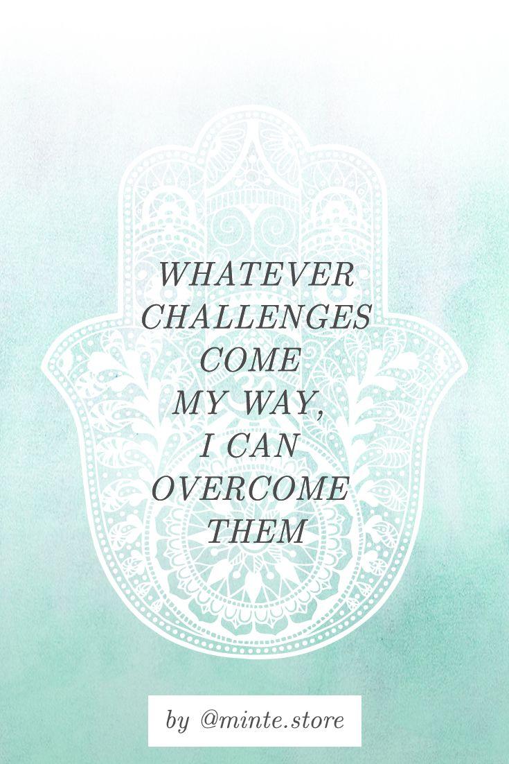 Inspirational mantra Motivational affirmation