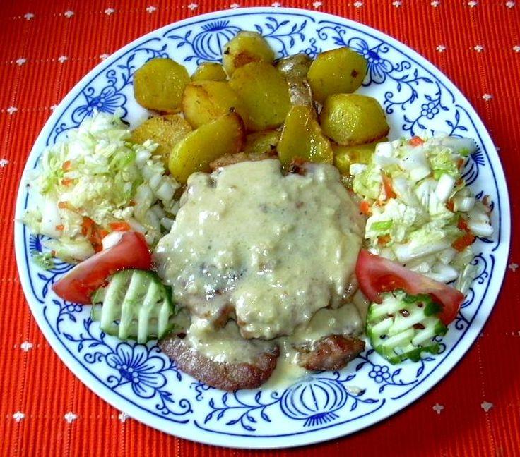 Kotleta s česnekovou omáčkou :: Domací kuchařka - vyzkoušené recepty
