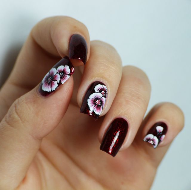 One stroke nail art flowers - The 25+ Best One Stroke Nails Ideas On Pinterest One Stroke, One