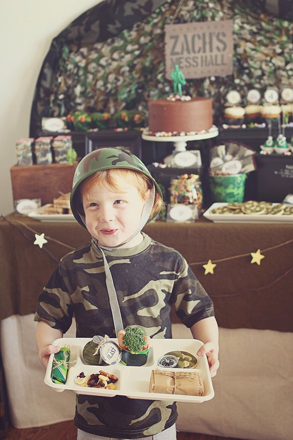 Creative Toy Soldier Camo Birthday Party Theme Army Kids Boys