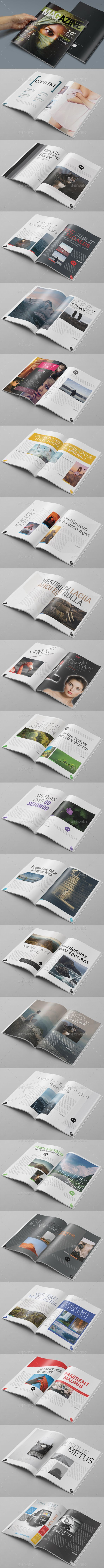 44 Pages Photoshop Magazine Template #design #journal Download: http://graphicriver.net/item/44-pages-photoshop-magazine-template/10891884?ref=ksioks