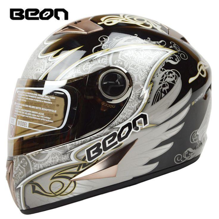 79.00$  Watch here - Brand BEON Full Face Helmet retro Motorcycle Helmets Classic Kart Racing helmet motociclistas capacete ECE Approved B-500 Angel  #aliexpress