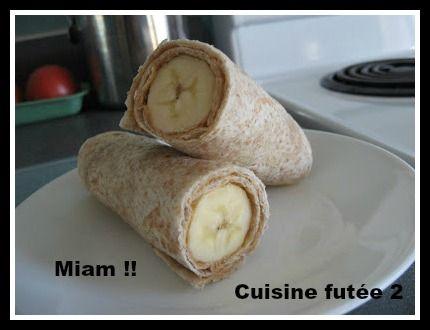 Tortilla roulée à la banane - Marie-Eve Boutin