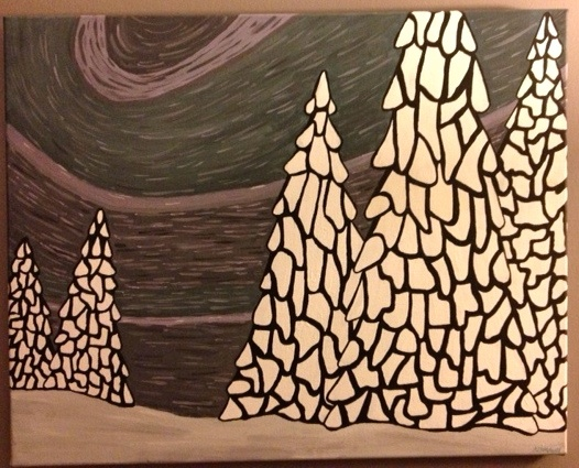 abstract winter painting