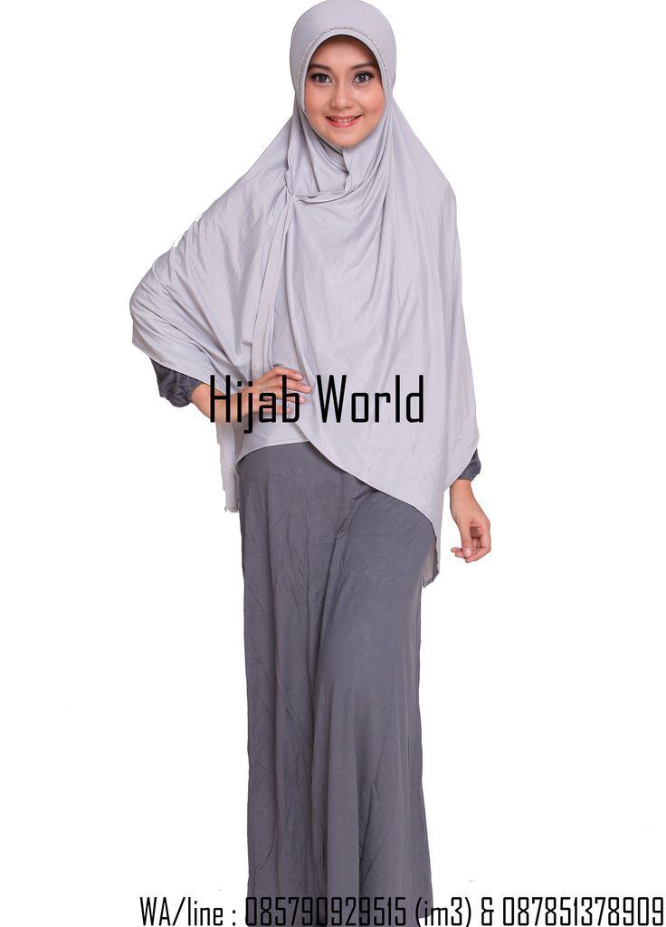 jilbab syar'i spandek permata silver
