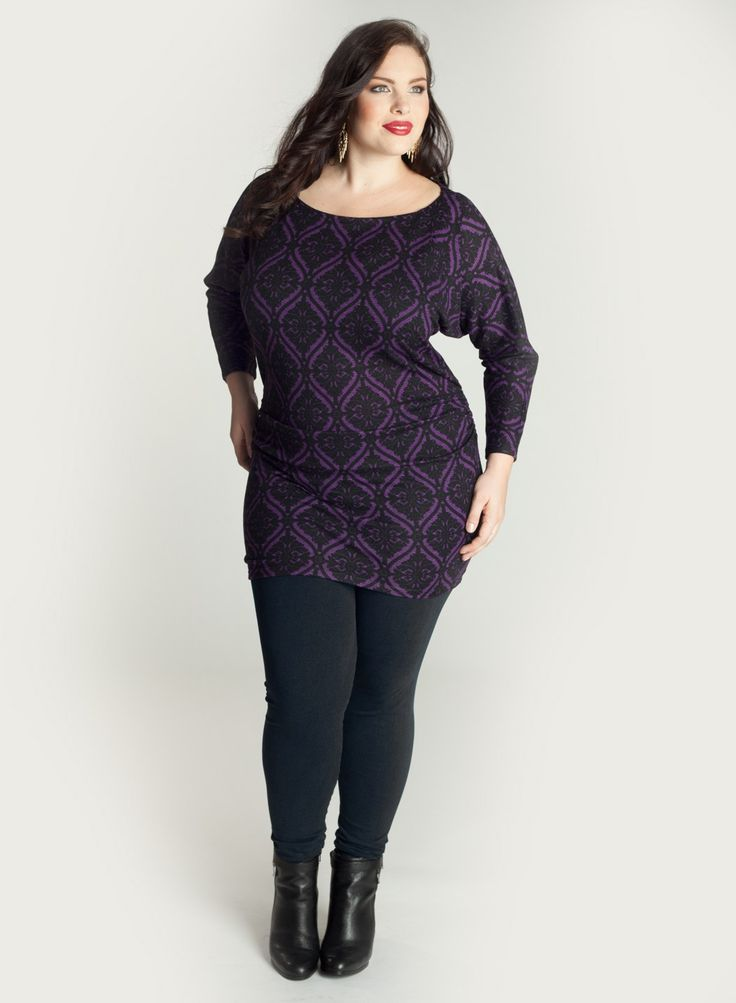 Plus size sweater dress and leggings