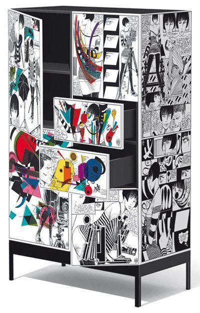 Decoupage com Quadrinhos ... visual jovem e alegre. Papel e Cola!