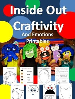 "The characters from ""Inside Out"" will help teach your kids about emotions. Printables for writing and templates."