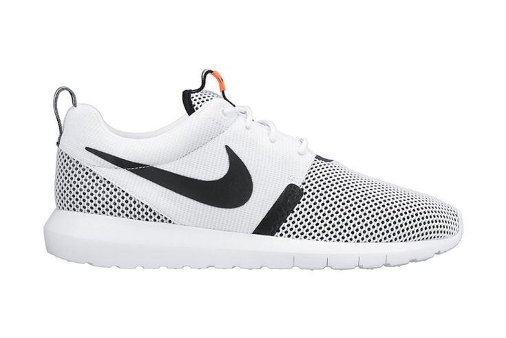 Nike Roshe Run NM Breeze: White/Black/Hot Lava