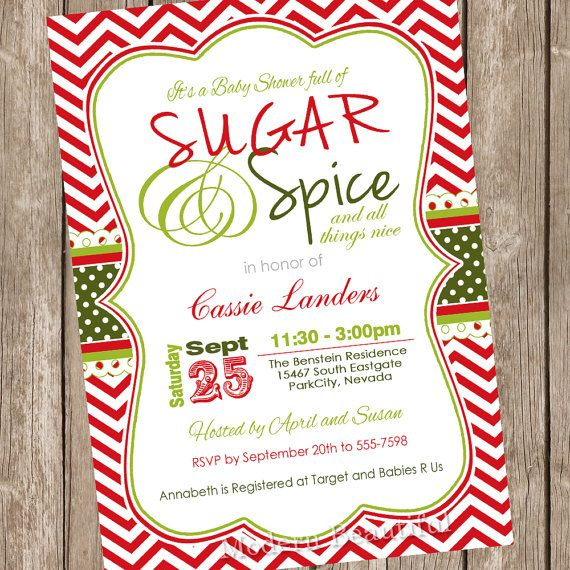 Sugar And Spice Christmas Baby Shower By ModernBeautiful