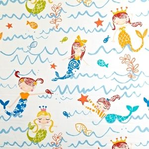 Mermaidia Azure 100% Cotton 137cm wide | 64cm Curtaining
