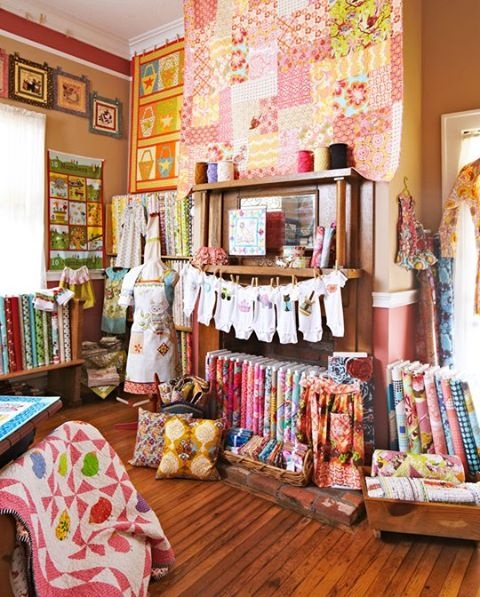 Fabric Shop | sewing room | Pinterest