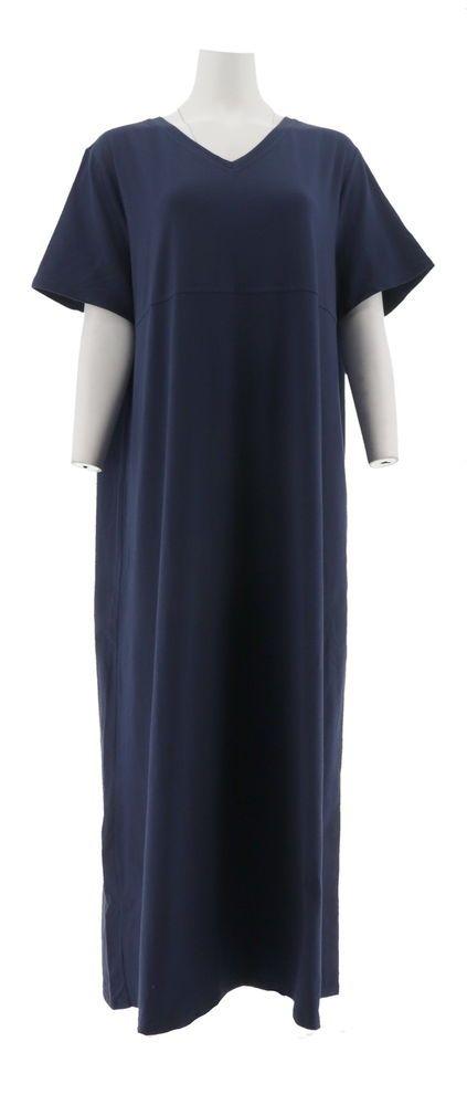 d9a2eab1e0c  DenimDress Denim   Co Short Slv V-Neck Empire Waist Knit Dress Navy XL NEW  A199937 - Denim Dress  22.98 End Date  Friday Nov-23-2018 18 25 21 PST Buy  It ...